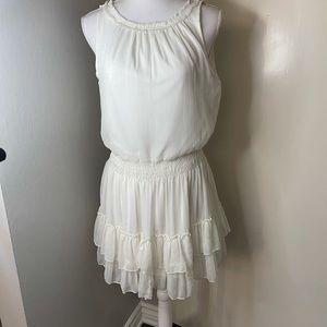 Zara white chiffon dress, SZ Large